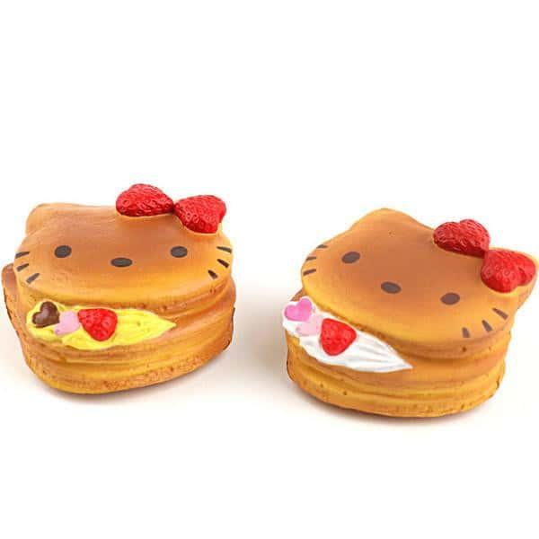 Sanrio Hello Kitty Squishy Lovely Sweets Series Pancake Ball Chain - Hamee - 1