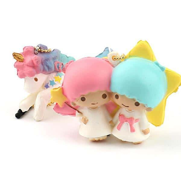 Sanrio Little Twin Stars Squishy Ball Chain and Earphone Jack Accessory - Hamee - 1