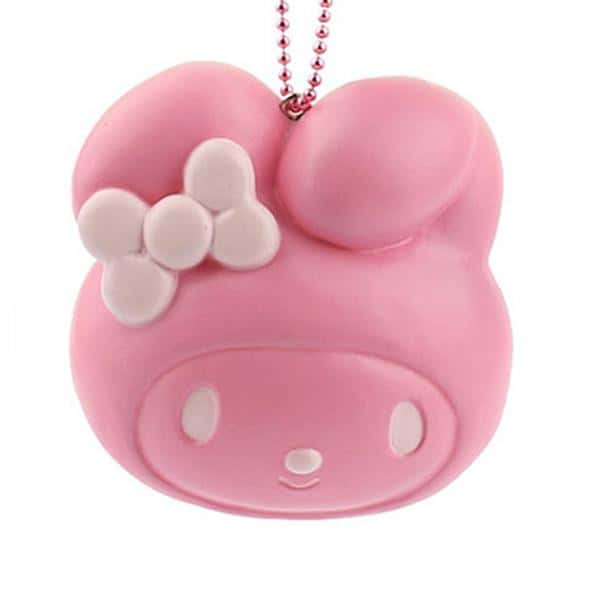 Sanrio Squishy Bread Ball Chain (My Melody / Strawberry) - Hamee - 1