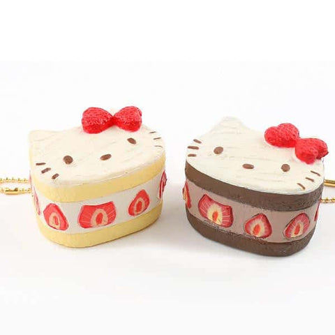 Sanrio Hello Kitty Squishy Lovely Sweets Series Shortcake Ball Chain