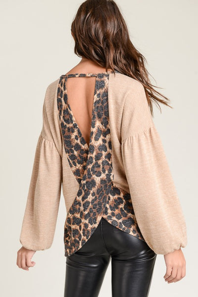Leopard Open Back Top