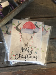 Cow Skull Christmas Cards