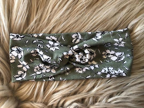 Olive Floral Headwrap