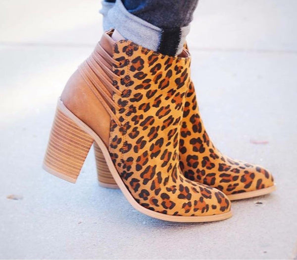 Leopard Lacey Booties
