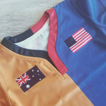 Load image into Gallery viewer, 50:50 Flag Jersey - Australia + USA
