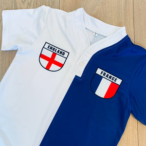50:50 Shield Jersey - France + England