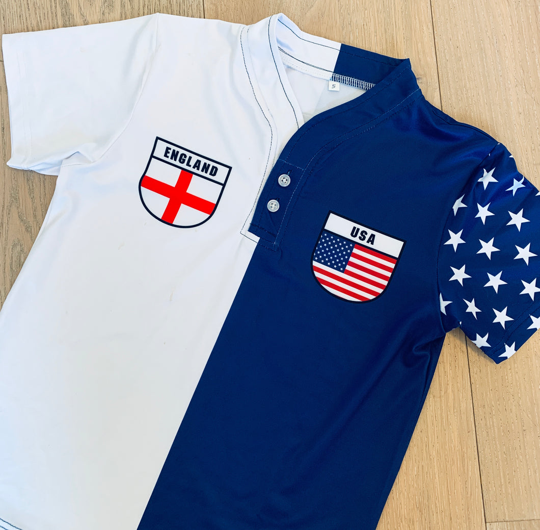 50:50 Shield Jersey - England + USA