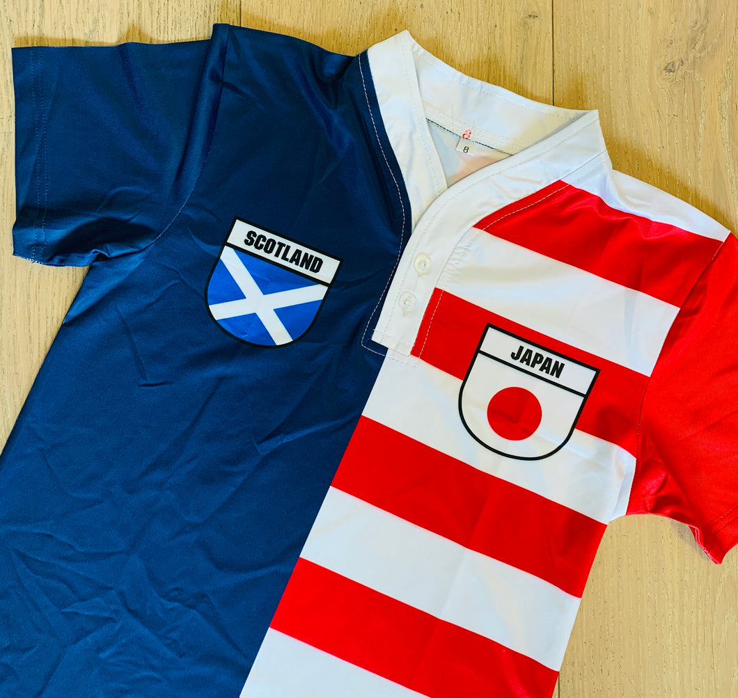 50:50 Shield Jersey - Scotland + Japan