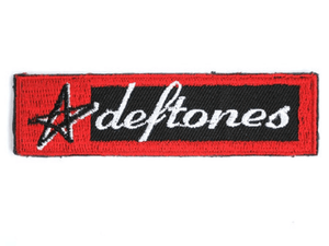 "DEFTONES Logo Iron On Embroidered Patch 4.5""/11.8cm - A Patch E Store"