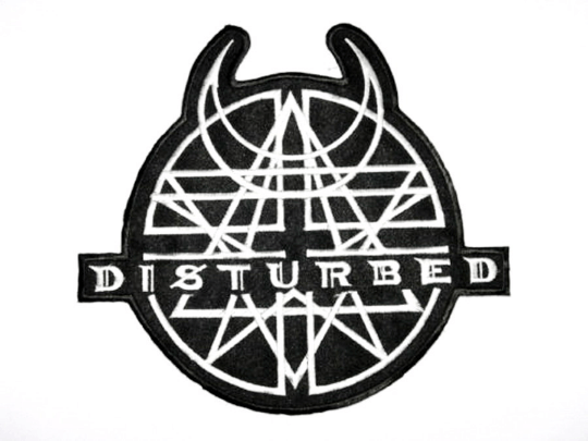 "DISTURBED Logo Heavy Metal Iron On Embroidered Patch 4.1""/10.5cm - A Patch E Store"