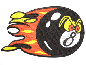 "Hot Lucky 8 Ball Rockabilly Iron On Embroidered Patch 4.5""/11.5cm - A Patch E Store"