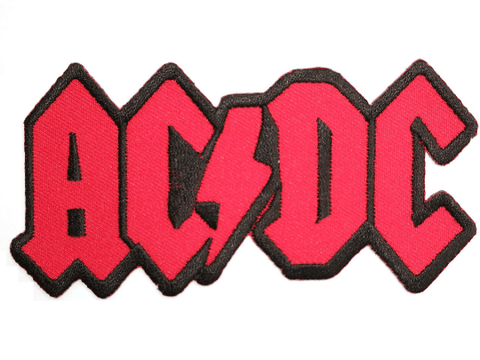 "ACDC AC/DC Iron On Embroidered Patch 4.5""/11.5cm"