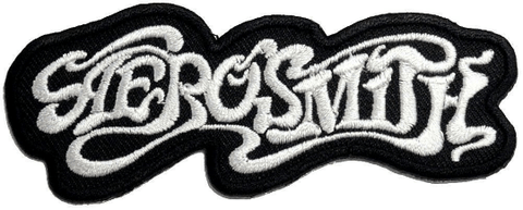"AEROSMITH Logo Iron On Embroidered Patch 3.7""/9.5cm"