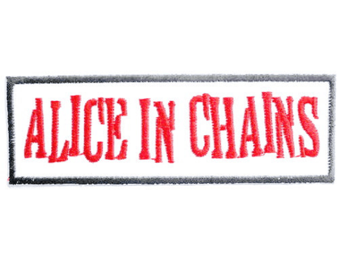 ALICE IN CHAINS Logo Iron On Embroidered Patch 3.8/9.6cm