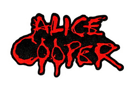 "ALICE COOPER Blood Drip Logo Iron On Embroidered Patch 5""/12.5cm - A Patch E Store"