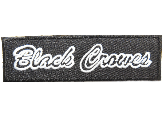 "BLACK CROWES Logo Iron On Embroidered Patch 4.4""/11.4cm - A Patch E Store"