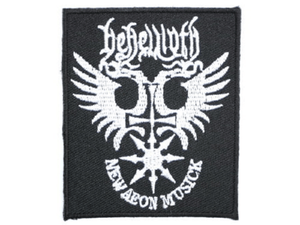 "BEHEMOTH Aeon Black Metal Iron On Embroidered Patch 3""/7.5cm - A Patch E Store"