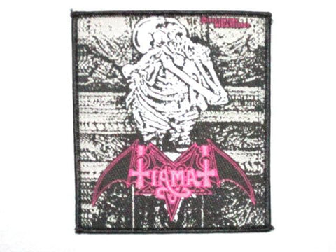 TIAMAT Skeleton Woven Death Metal Patch - A Patch E Store