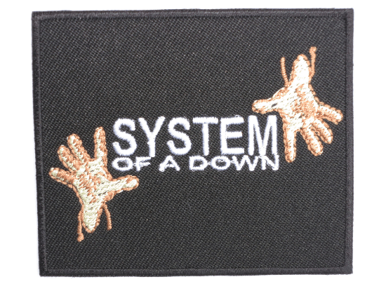 "SYSTEM OF A DOWN Hands Iron On Sew On Embroidered Patch 3""/7.6cm - A Patch E Store"