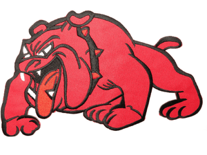 "BRITISH BULLDOG Red Iron On Embroidered Big Back Patch 9.7""/24cm - A Patch E Store"