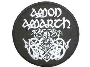 "AMON AMARTH Viking Shield Iron On Embroidered Patch 2.9""/7.4cm - A Patch E Store"