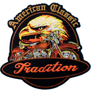 "American Classic Tradition Eagle Biker Big Back Patch 9.7""/25cm - A Patch E Store"