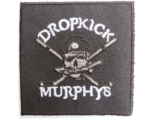 "DROPKICK MURPHYS Skull Sticks Iron On Embroidered Patch 2.7""/7cm - A Patch E Store"