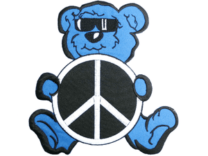 "GRATEFUL DEAD Peace Bear Big Embroidered Back Patch 7.8""/19.8cm - A Patch E Store"