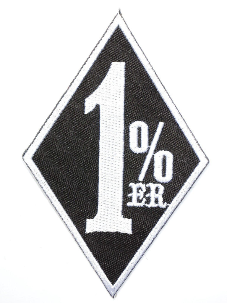 "1%er Outlaw Biker Rider Iron On Embroidered Patch 4.2""/10.8cm - A Patch E Store"