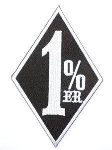 "One Percenter 1 %er Iron On Embroidered Patch 3.4""/8.5cm - A Patch E Store"