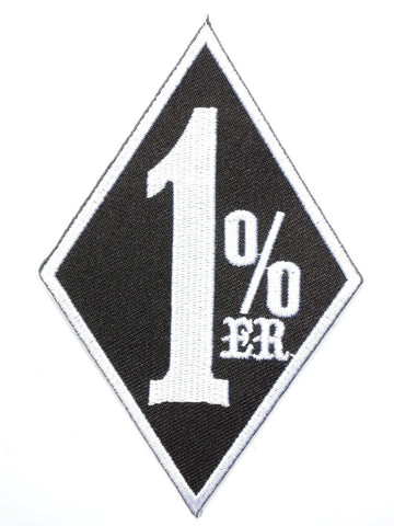 "1%er Outlaw Biker Rider Iron On Embroidered Patch 3.4""/8.5cm"
