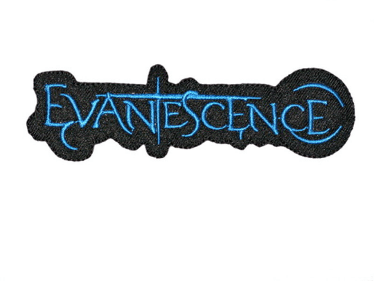 "Copy of Evanescence Blue Logo Iron On Embroidered Patch 4.7""/12.2cm - A Patch E Store"