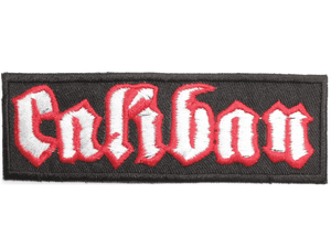 "CALIBAN Logo Metalcore Iron On Embroidered Patch 4.7""/12cm - A Patch E Store"