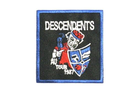 "DESCENDENTS AU Tour Punk Iron On Embroidered Patch 3""/7.6cm - A Patch E Store"
