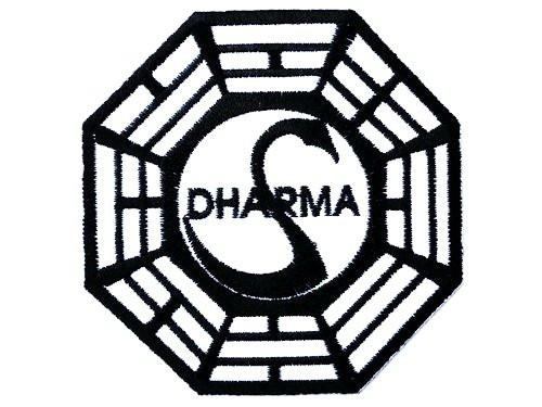 "DHARMA Initiative Lost Swan Iron On Embroidered Patch 2.9""/7.5cm - A Patch E Store"