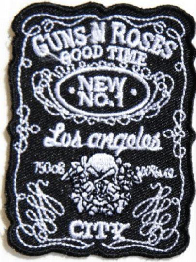 "GUNS N ROSES LA Good Time Iron On Embroidered Patch 3.1""/7.9cm - A Patch E Store"