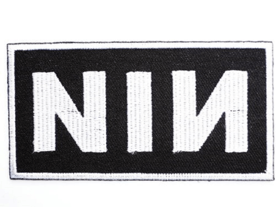 "NIN Logo Nine Inch Nails Iron On Embroidered Patch 3.4""/8.6cm - A Patch E Store"