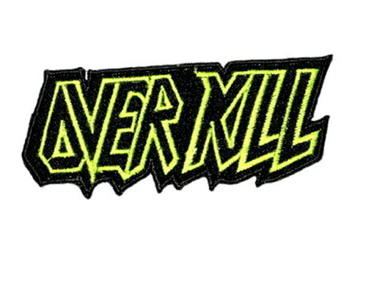 "OVERKILL Thrash Metal Logo Iron On Embroidered Patch 3.7""/9.6cm - A Patch E Store"