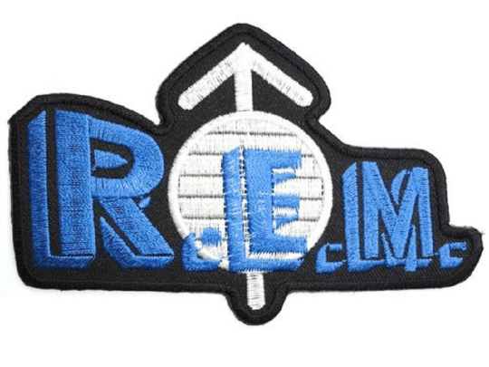"R.E.M REM Logo Iron On Embroidered Patch 4.7""/12cm - A Patch E Store"