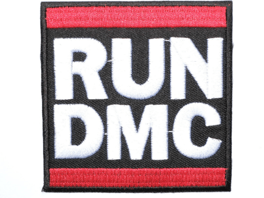 "RUN DMC Retro Hip Hop Iron On Embroidered Patch 2.9""/7.4cm - A Patch E Store"