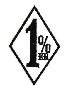 One Percenter 1 %er Outlaw Iron On Embroidered Patch - A Patch E Store