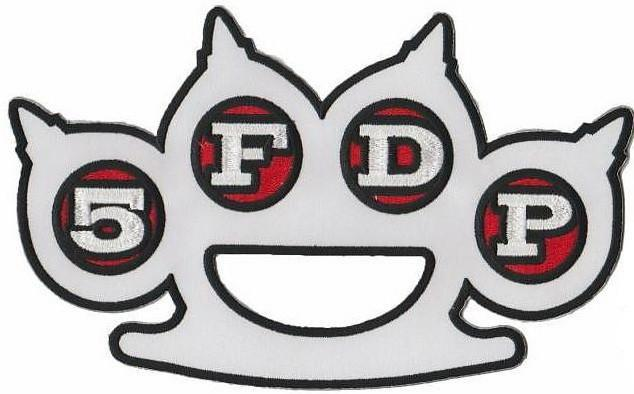 "Five Finger Death Punch 5FDP Big XL Embroidered Back Patch 9""/23cm - A Patch E Store"