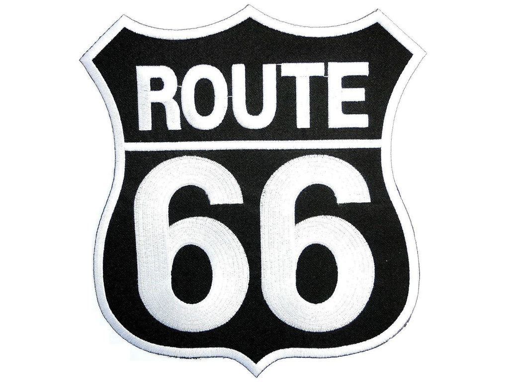 "ROUTE 66 Cafe Racer MC Biker Embroidered Big Back Patch 8""/20.4cm - A Patch E Store"