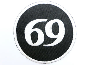 "69 Rockers Cafe Racer Biker Iron On Embroidered Patch 2.9""/7.5cm - A Patch E Store"
