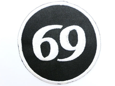 "69 Rockers Cafe Racer Biker Iron On Embroidered Patch 2.9""/7.5cm"