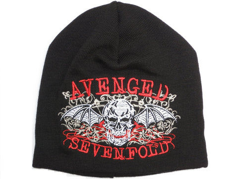 AVENGED SEVENFOLD Red Logo Acrylic Wool Beanie Hat BNWT - A Patch E Store