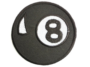 "8 Ball Pool Rockabilly Iron On Embroidered Patch 2.7""/7cm - A Patch E Store"