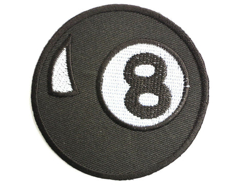 "8 Ball Pool Rockabilly Iron On Embroidered Patch 2.7""/7cm"