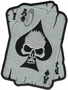 "Ace Of Spades Death Dealer Skull Cards Big XL Back Patch 9.5""/24cm - A Patch E Store"