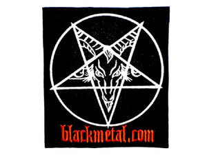 "Baphomet Black Metal Big Embroidered Back Patch 8.4""/21.5cm - A Patch E Store"